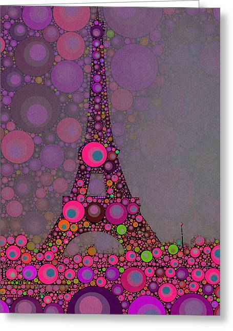 Paris By John Springfield Greeting Card