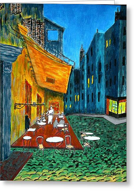 Paris Cafe Greeting Card by Irving Starr