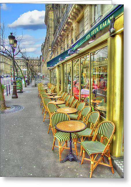 Paris Cafe Greeting Card by Mark Currier