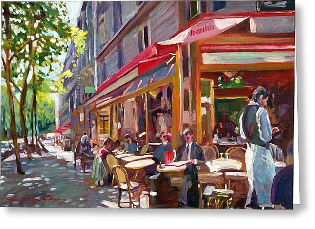 Paris Cafe Society Greeting Card