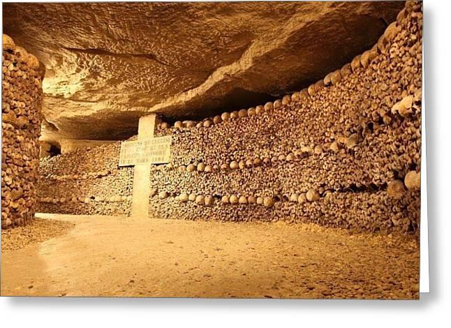 Paris Catacombs Greeting Card