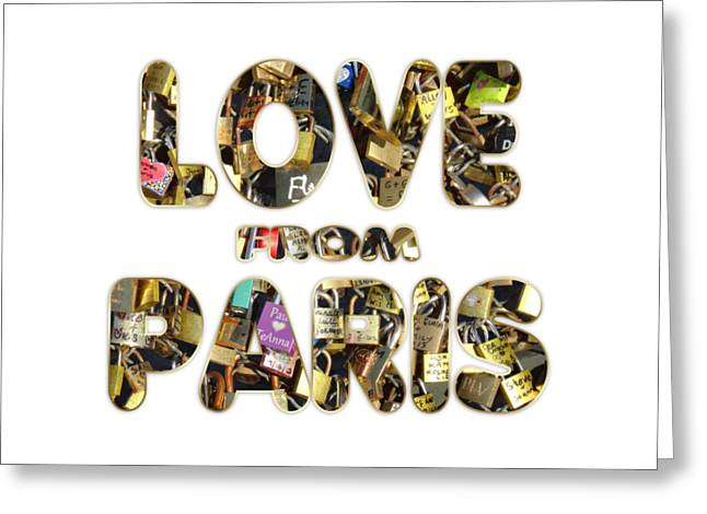 Greeting Card featuring the painting Paris City Of Love And Lovelocks by Georgeta Blanaru