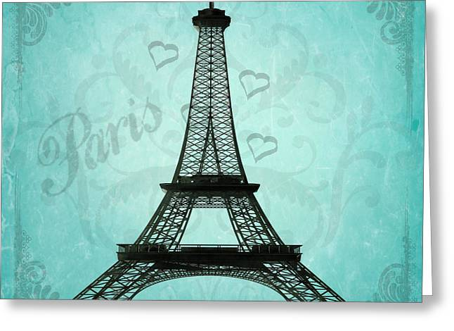 Paris Collage Greeting Card by Jim and Emily Bush