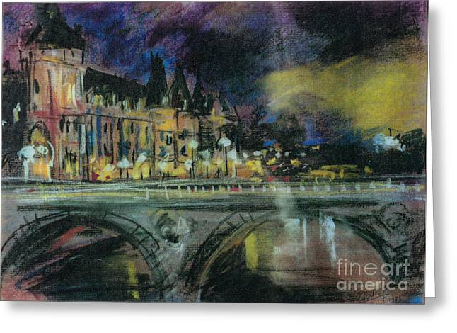 Greeting Card featuring the painting Paris by Debora Cardaci