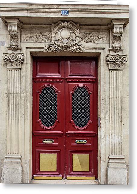 Paris Doors No. 17 - Paris, France Greeting Card