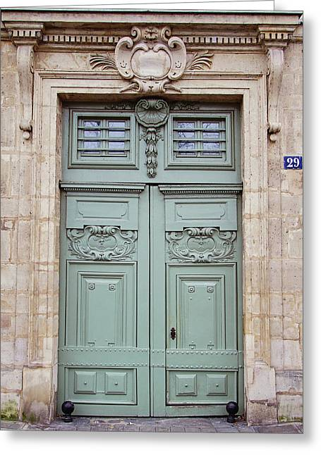 Paris Doors No. 29 - Paris, France Greeting Card