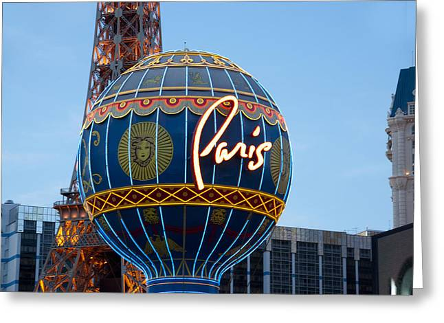 Paris-eifel Tower-las Vegas Greeting Card by Neil Doren