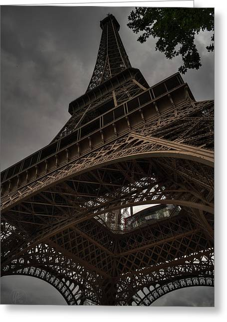 Greeting Card featuring the photograph Paris - Eiffel Tower 003 by Lance Vaughn