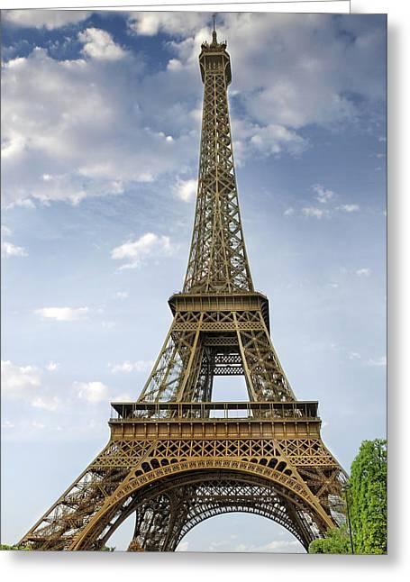 Paris Eiffel Tower Greeting Card by Melanie Viola