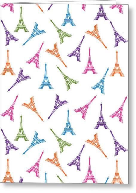 Paris Eiffel Tower Greeting Card by Naviblue