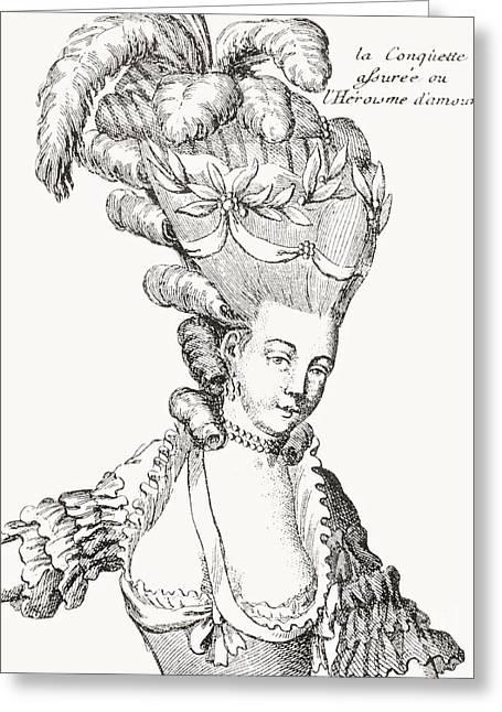 Paris Fashion, 1776 Greeting Card