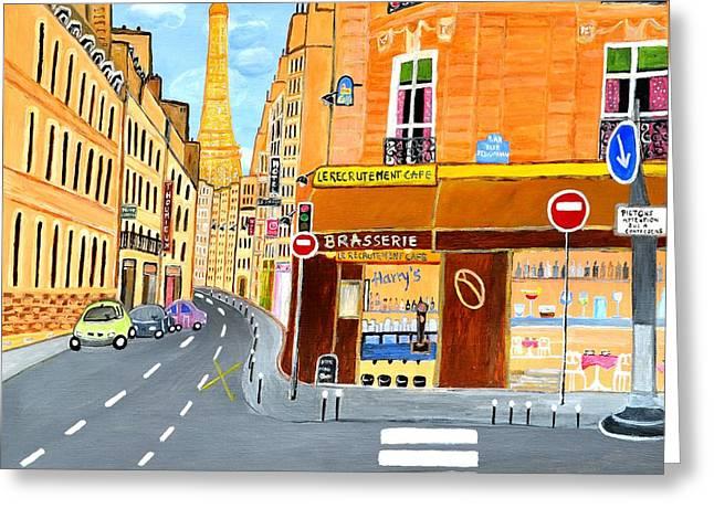 Paris France, Rue St. Dominique Greeting Card