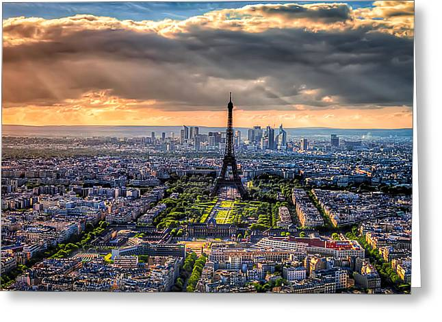 Paris From Above Greeting Card by Tim Stanley