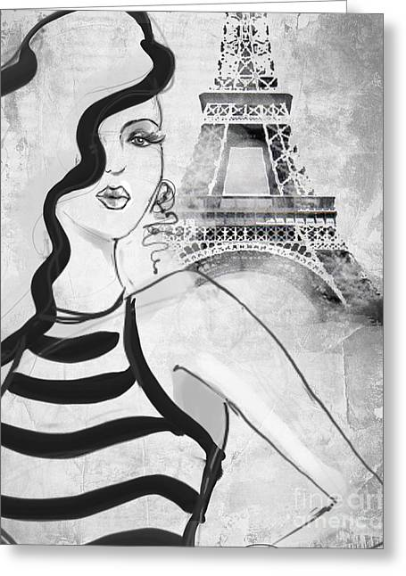 Paris Grey Greeting Card