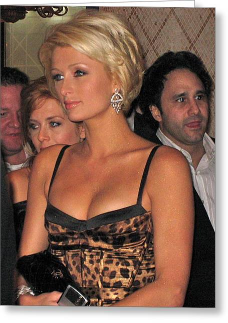Paris Hilton  Greeting Card