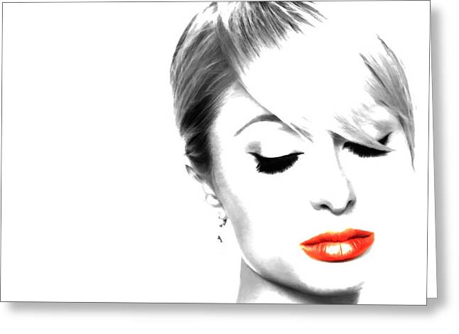 Paris Hilton Just Me Greeting Card by Brian Reaves