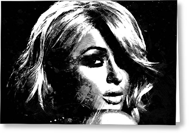 Paris Hilton S1 Greeting Card by Brian Reaves