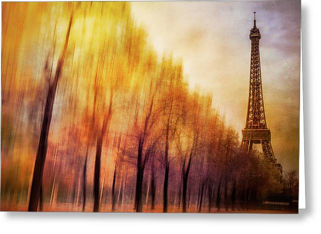 Paris In Autumn Greeting Card