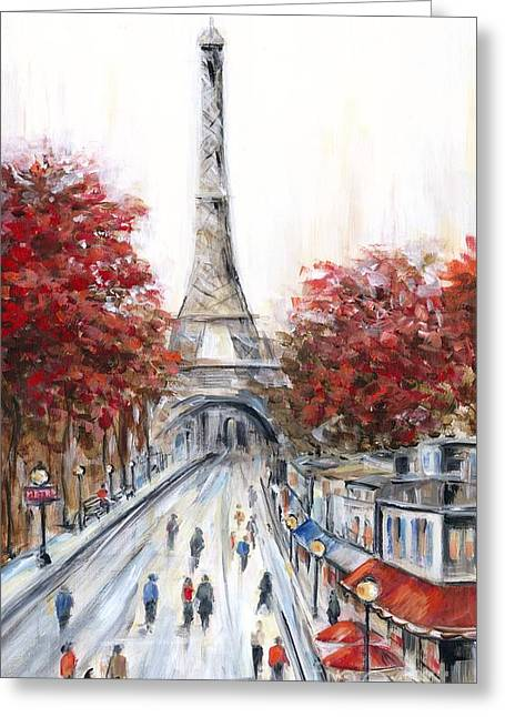 Paris In The Fall Greeting Card by Marilyn Dunlap