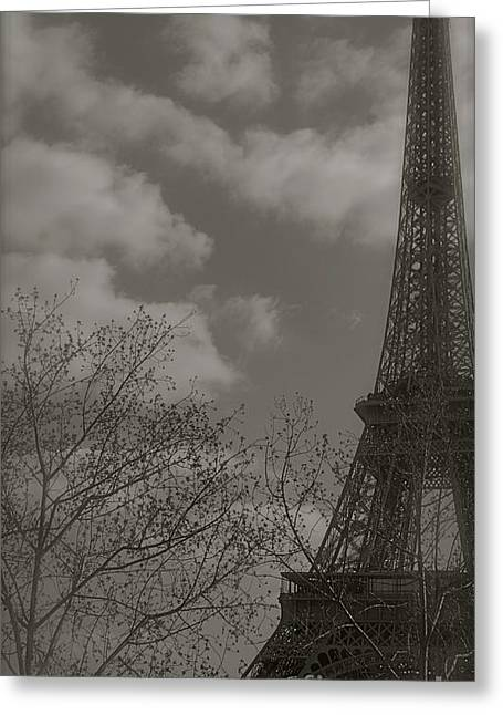 Paris In The Spring Greeting Card by Louise Fahy