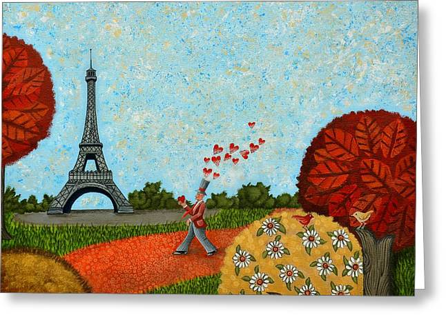 Paris Je T Aime Greeting Card by Graciela Bello