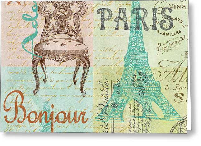 Paris-jp1664-g Greeting Card by Jean Plout