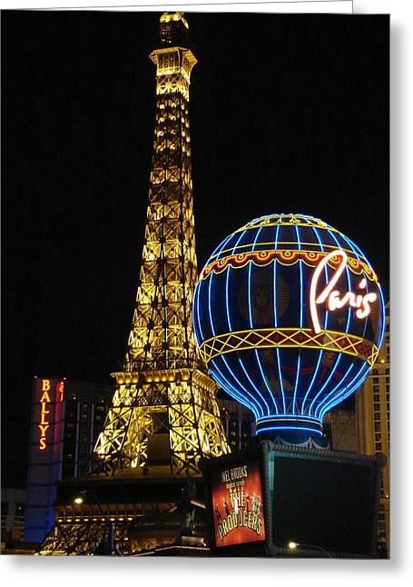 Paris Las Vegas Greeting Card by Kimberly Hill