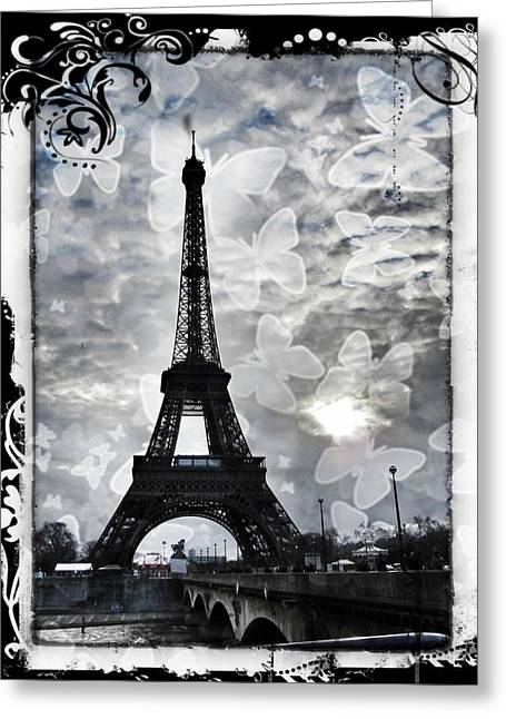 Paris Greeting Card by Marianna Mills