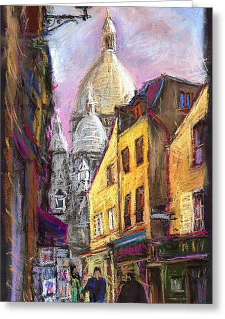 Paris Montmartre 2 Greeting Card by Yuriy  Shevchuk