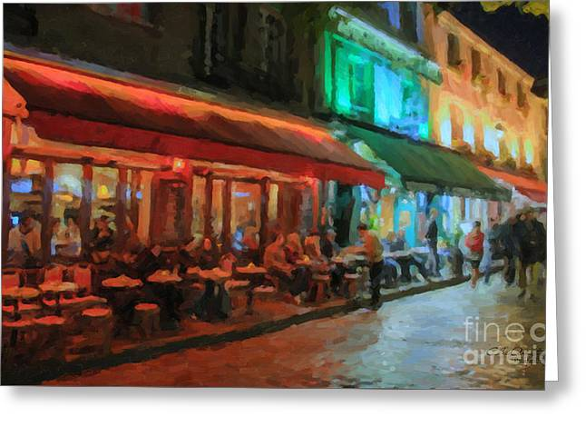 Paris Night Greeting Card