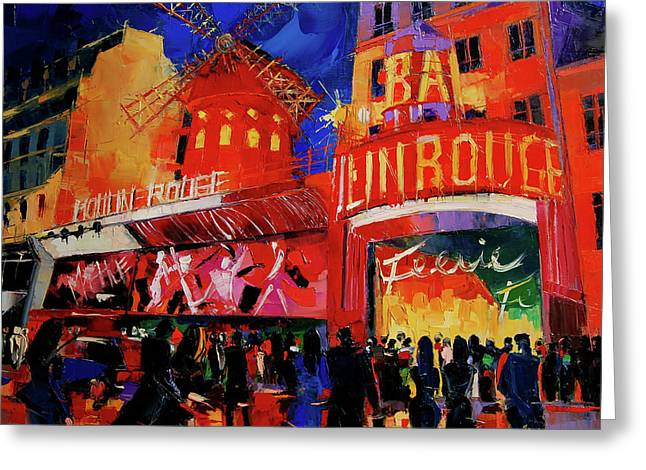 Paris Nights By Mona Edulesco Greeting Card by Mona Edulesco