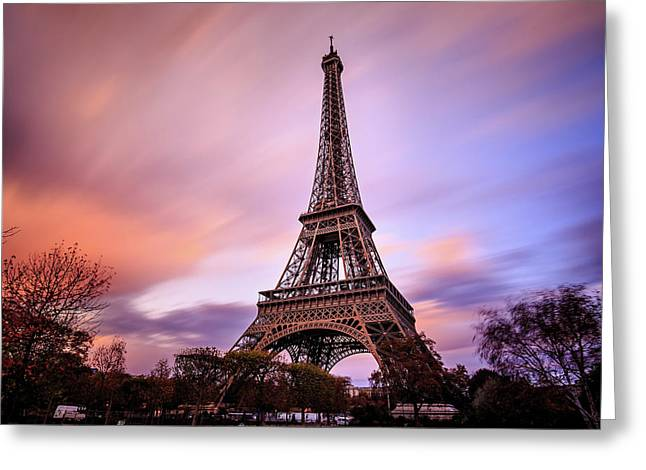 Paris Pastels Greeting Card by Jennifer Casey