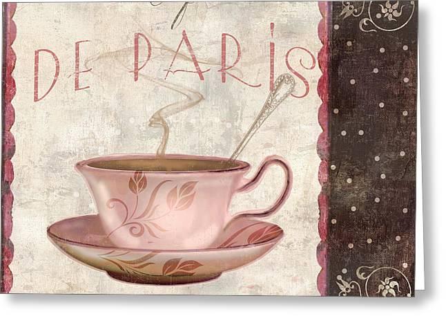 Paris Patisserie Cafe De Paris Greeting Card