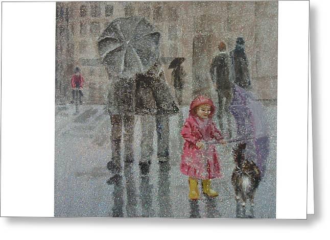 Paris Purrcipitation Greeting Card