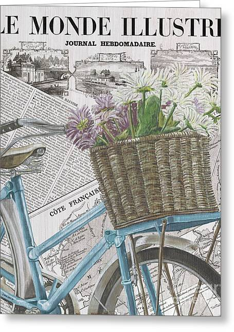 Paris Ride 1 Greeting Card by Debbie DeWitt