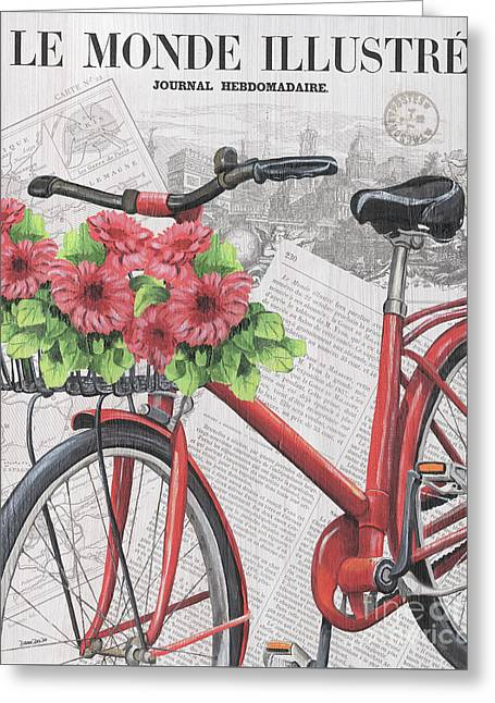 Paris Ride 2 Greeting Card by Debbie DeWitt