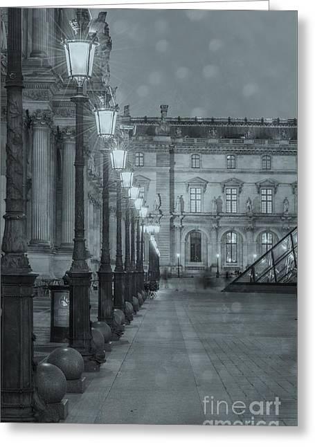 Paris. Louvre At Twilight Greeting Card by Juli Scalzi