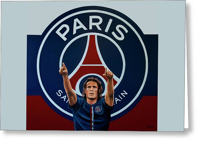 Paris Saint Germain Painting Greeting Card by Paul Meijering