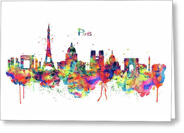 Paris Skyline 2 Greeting Card by Marian Voicu