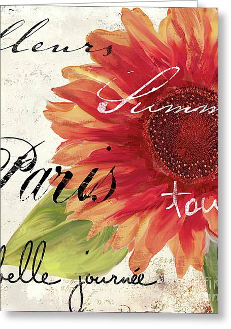 Paris Songs II Greeting Card by Mindy Sommers