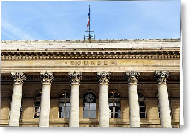 Paris Stock Exchange Greeting Card by Dutourdumonde Photography