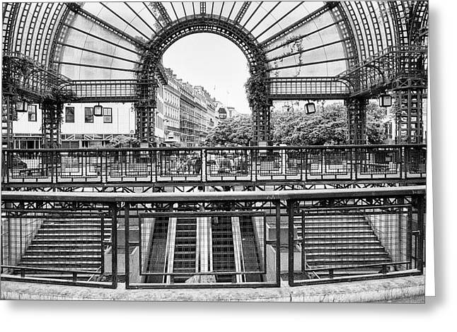 Greeting Card featuring the photograph Paris Subway Station by Dave Beckerman