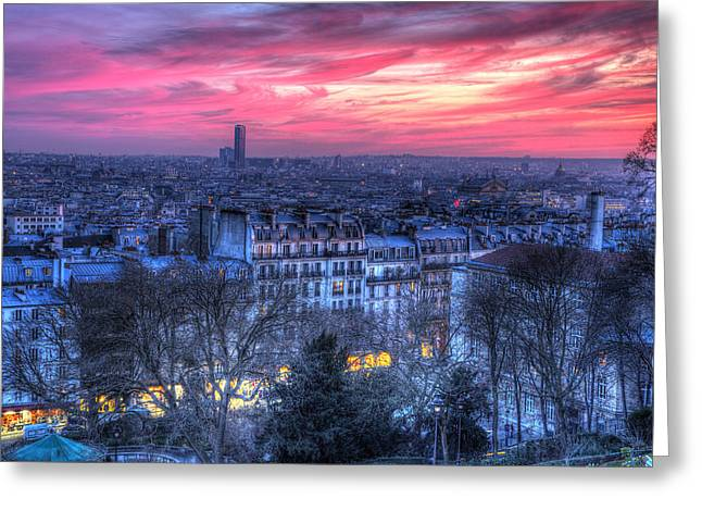 Greeting Card featuring the photograph Paris Sunset by Shawn Everhart