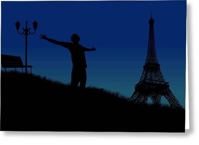 Paris Why Greeting Card by Joe Hamilton