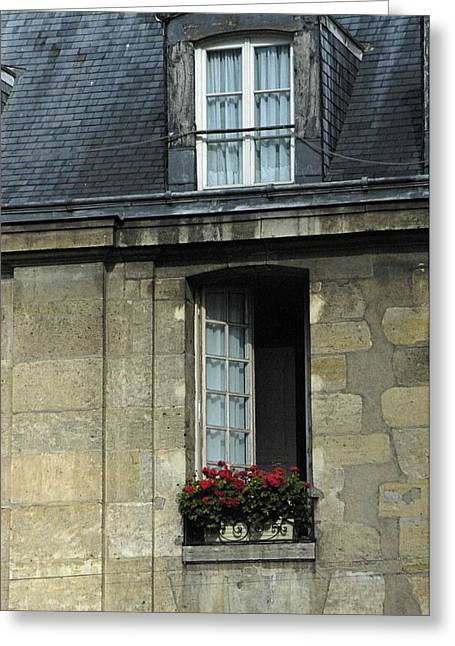Paris Window Greeting Card