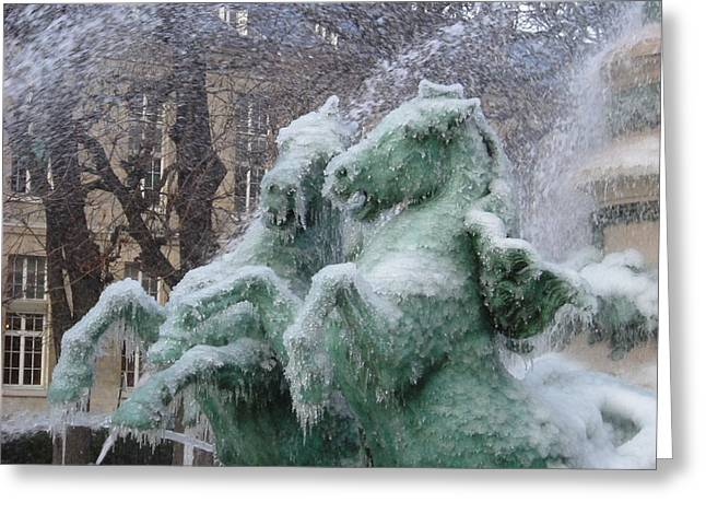 Paris Winter Greeting Card