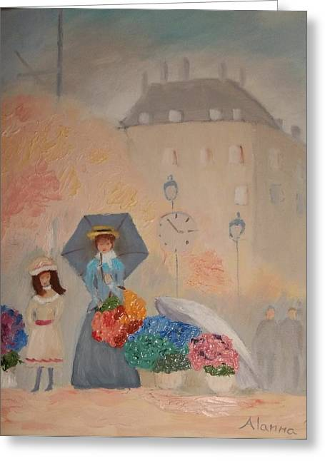 Paris  Yoli By Alanna Greeting Card by Alanna Hug-McAnnally