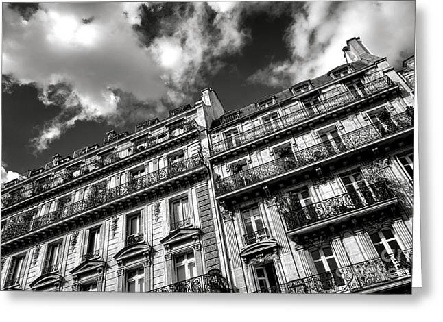 Parisian Buildings Greeting Card by Olivier Le Queinec