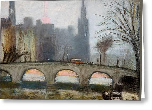 Greeting Card featuring the painting Parisian Gray by Gary Coleman