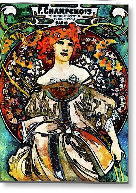 Parisian Lady Van Gogh Style Expressionism Greeting Card